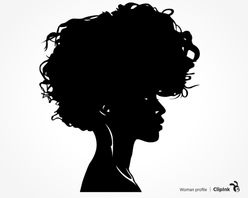 black woman profile svg