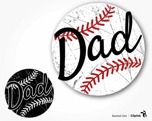 baseball dad svg