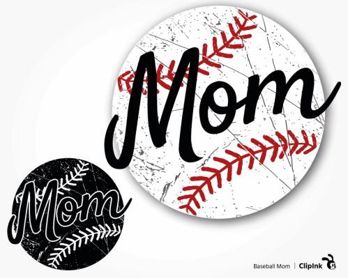 baseball mom svg