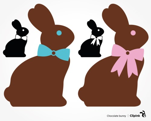 chocolate bunny svg