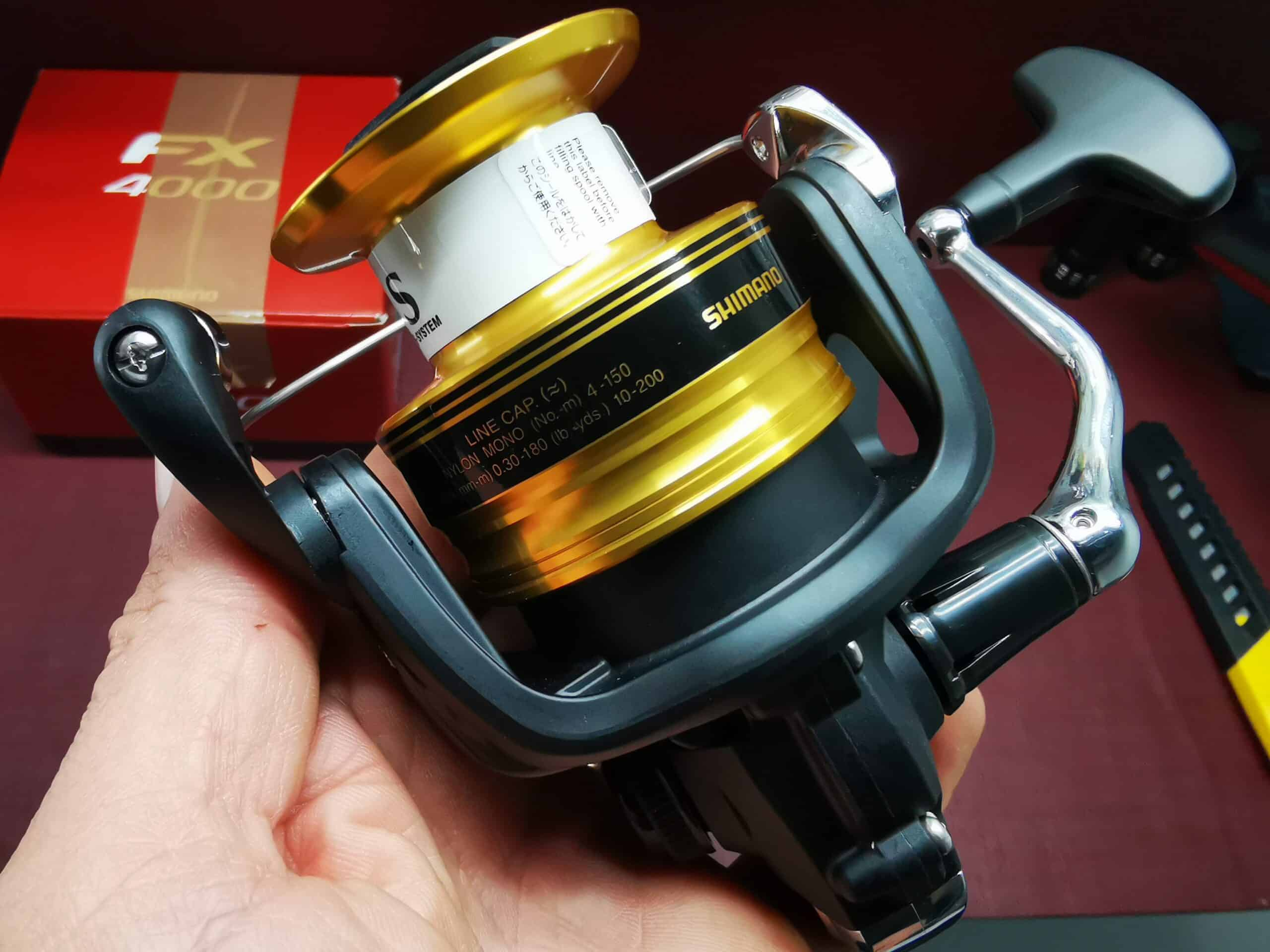 Mulinello Shimano FX 4000 con filo Pesca bolognese spinning mare lago    FEU