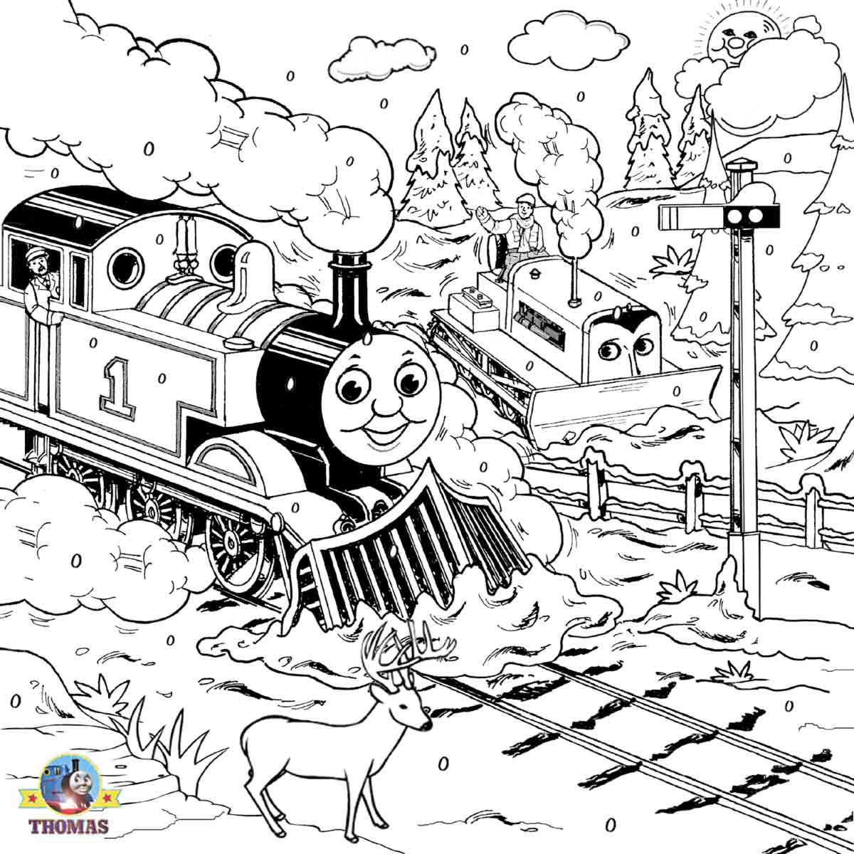 Free Steam Engine James Coloring Pages Download Free Clip
