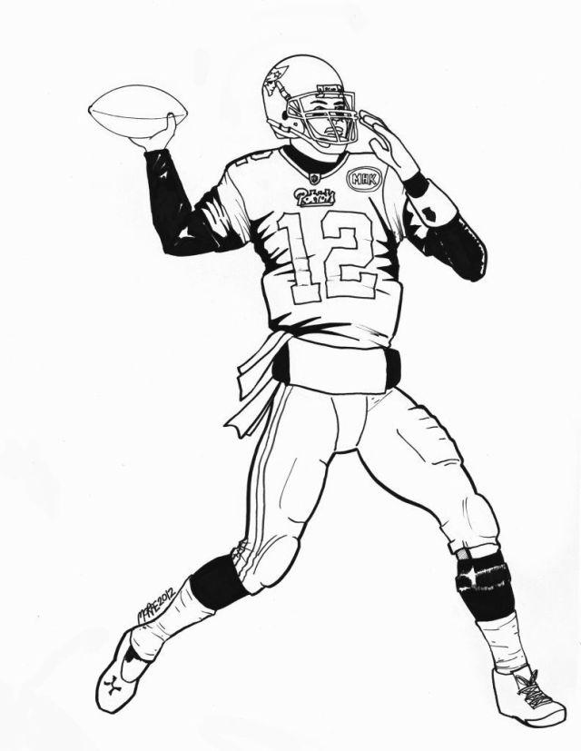 tom brady coloring page - Clip Art Library