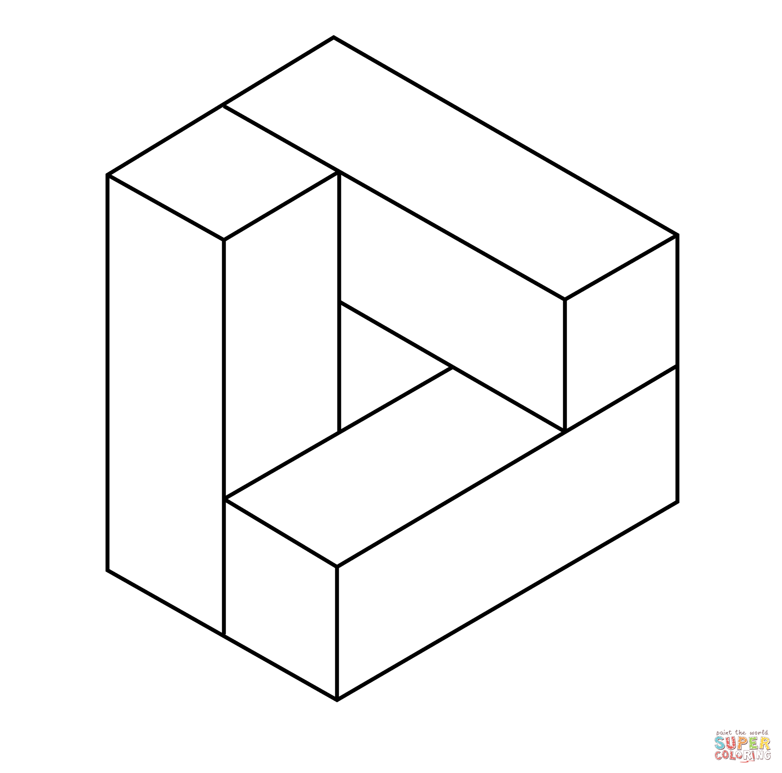 Optical Illusion 45 Coloring Page