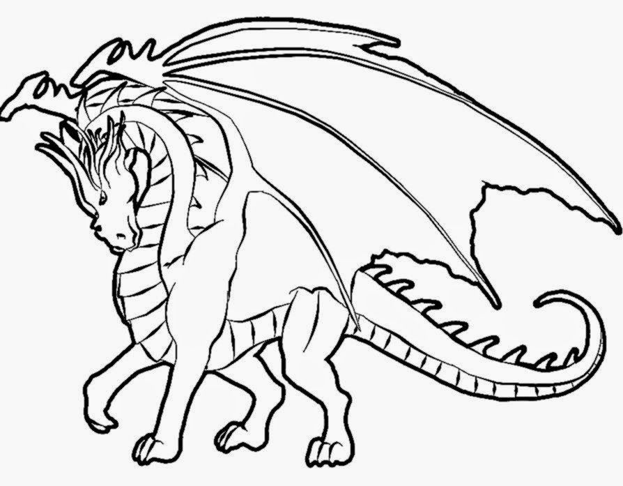 Realistic Dragon Coloring Pages Clip Art Library