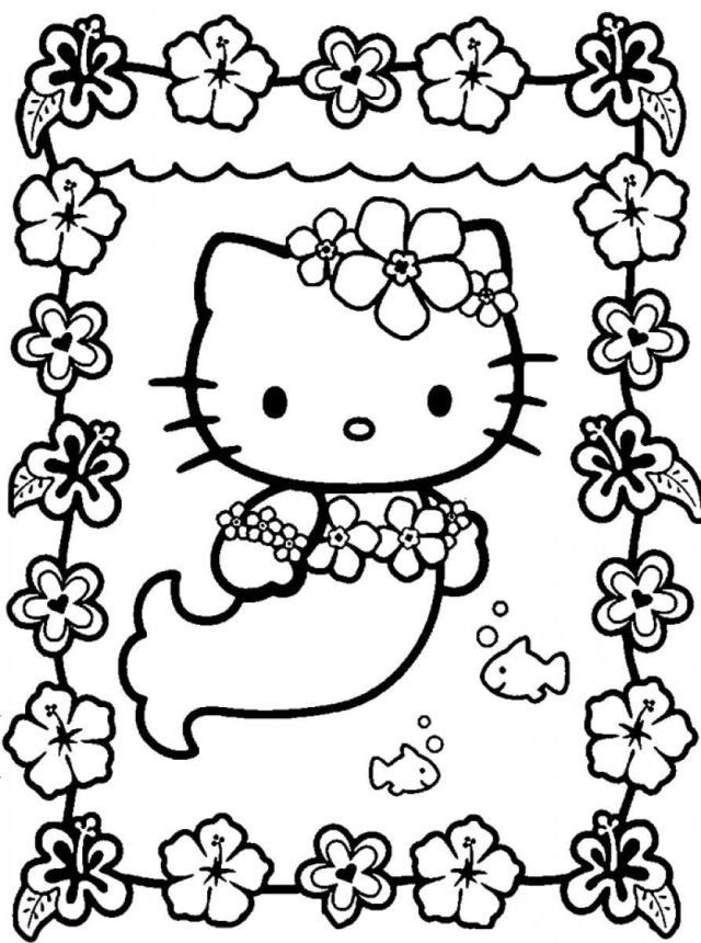hello kitty coloring - Clip Art Library