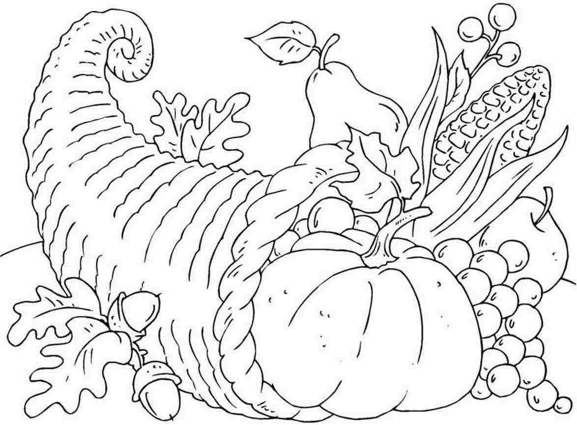 Free Free Printable Cornucopia Coloring Pages Download