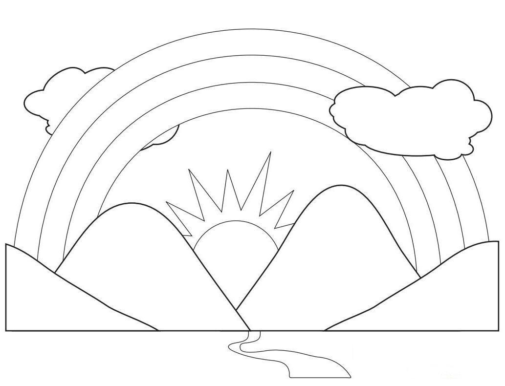 Free Preschool Coloring Pages Of Rainbows Download Free