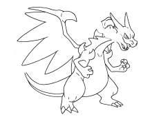 Mega Charizard Pokemon Coloring Sheets
