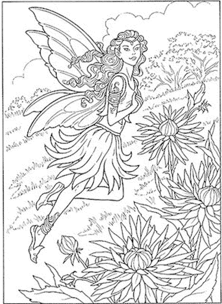 Free Coloring Pages Of Fairies For Adults Download Free Clip Art Free Clip Art On Clipart Library