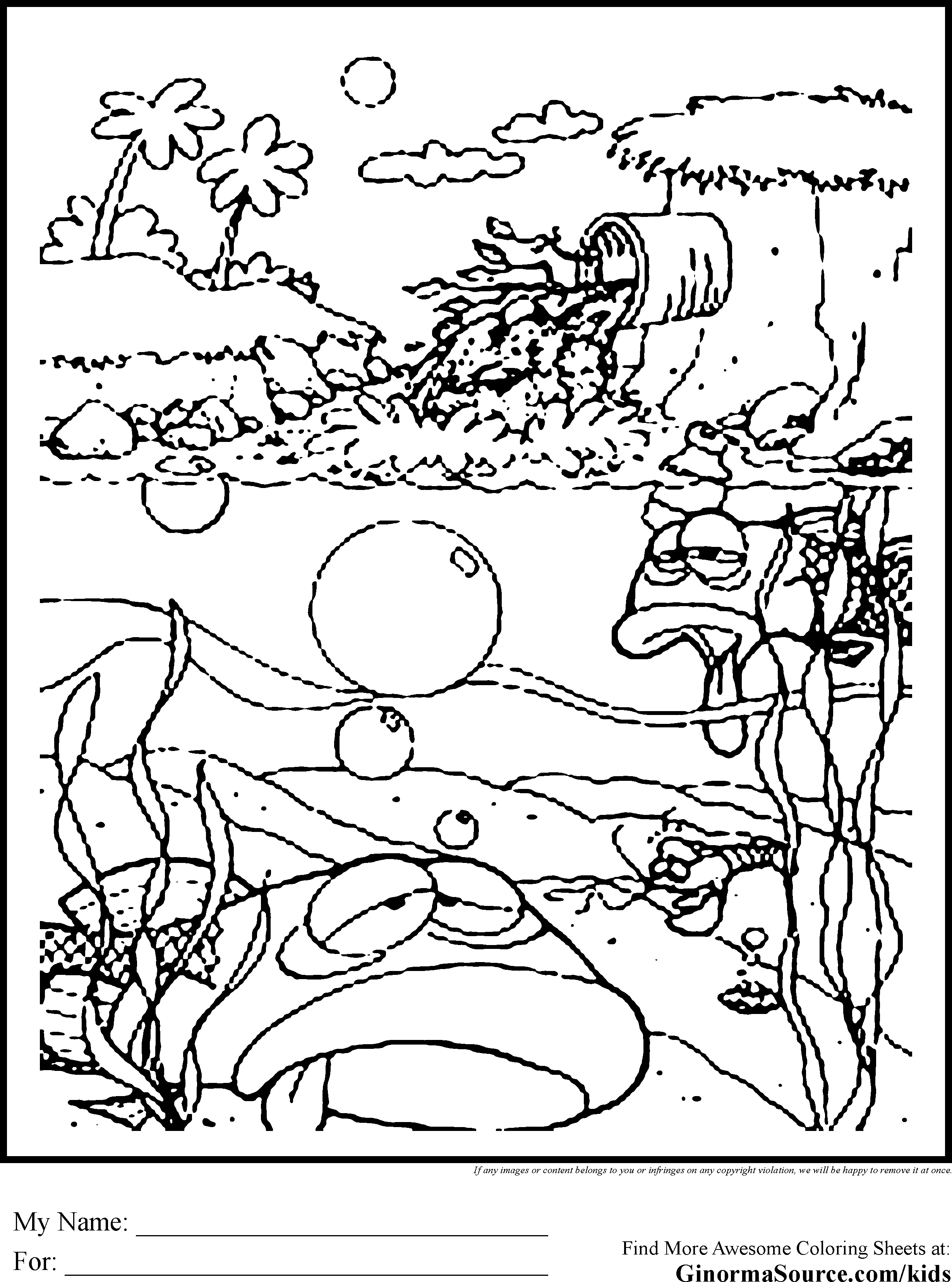Free Coloring Pages For Hawaii Beaches Download Free Clip