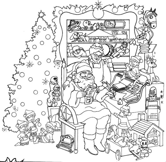 Free Intricate Christmas Coloring Pages, Download Free Intricate