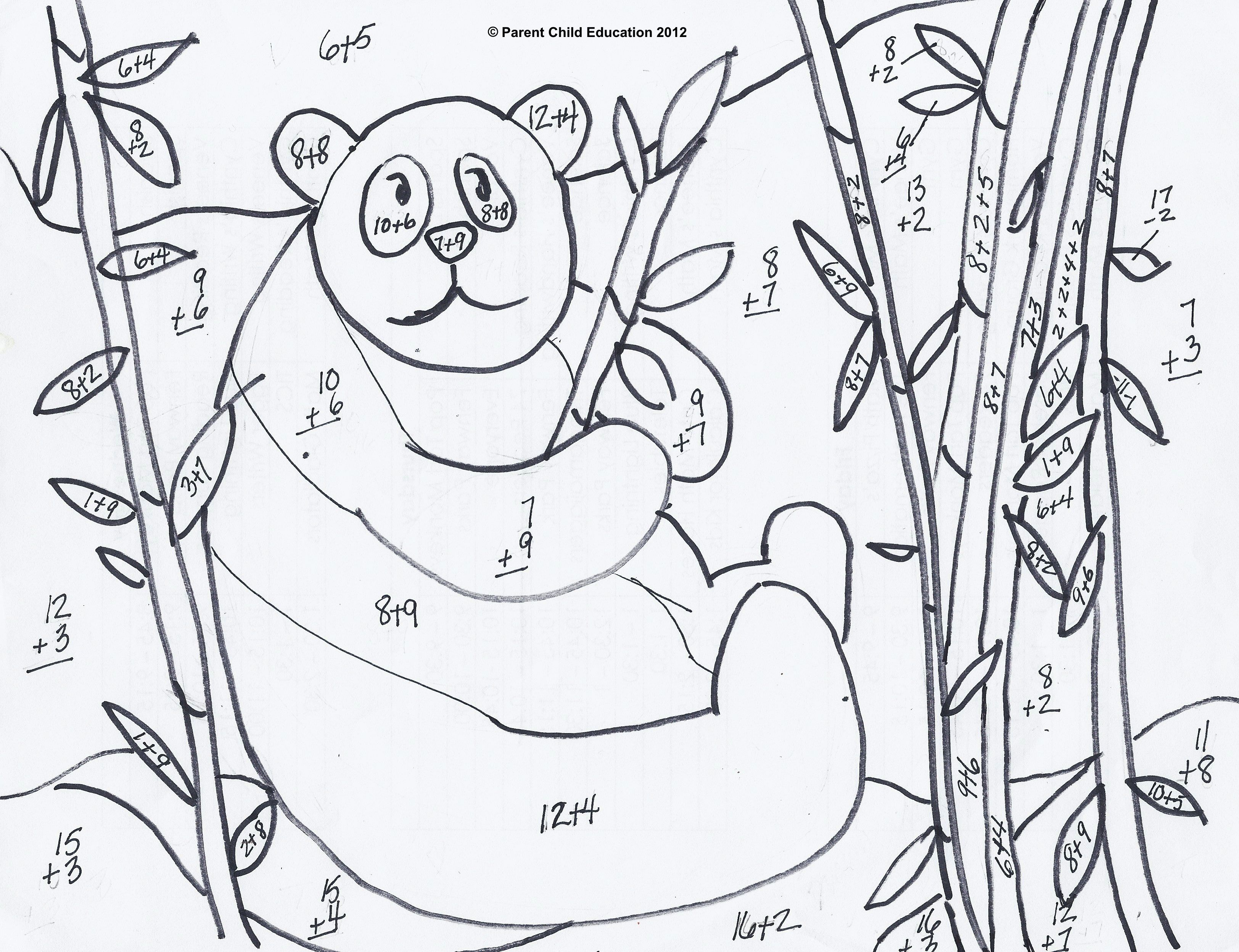 Free Addition And Subtraction Coloring Pages Download