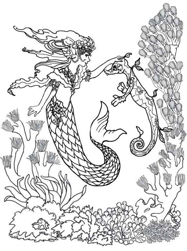 Free Adult Coloring Pages Mermaid Download Free Clip Art Free Clip Art On Clipart Library