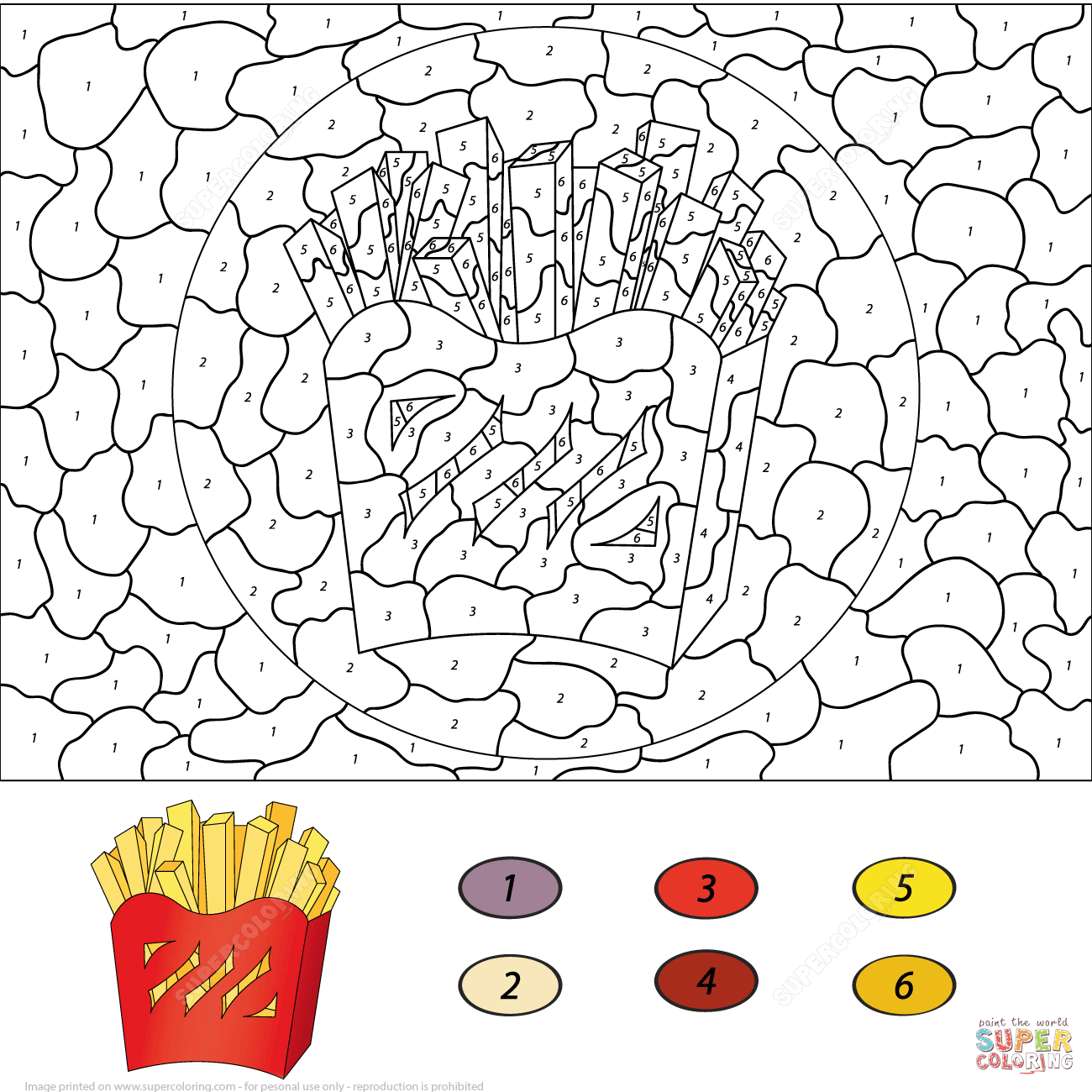 Free French Fries Coloring Page Download Free Clip Art