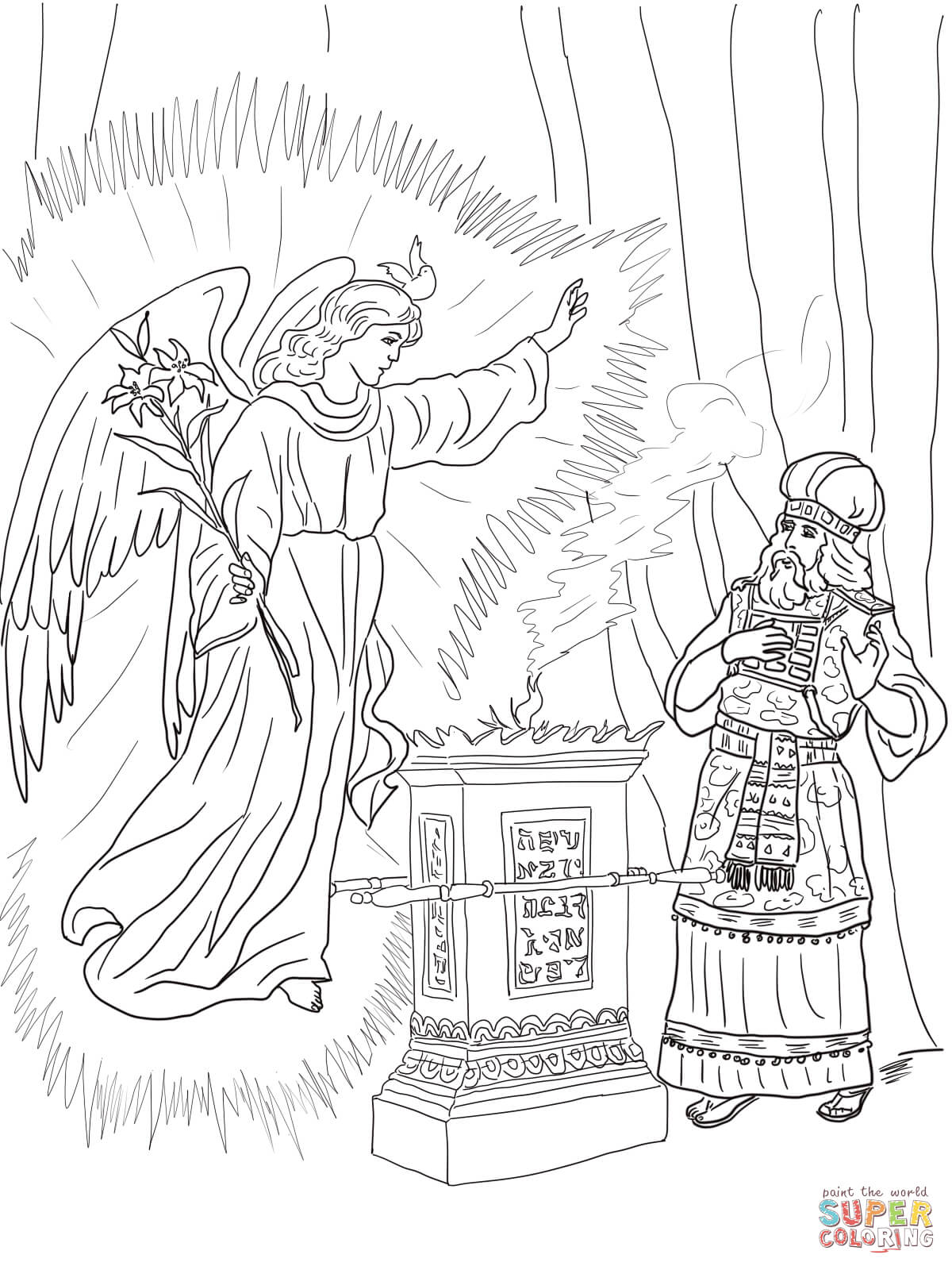 Free Elizabeth And Zechariah Coloring Pages Download Free