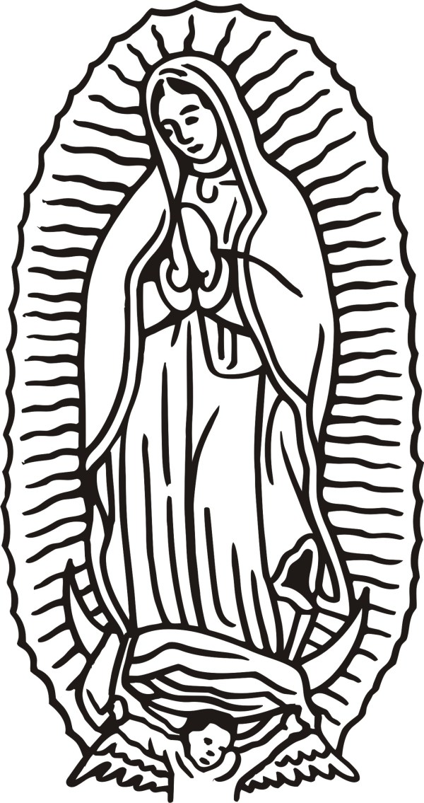 our lady of guadalupe coloring page # 14