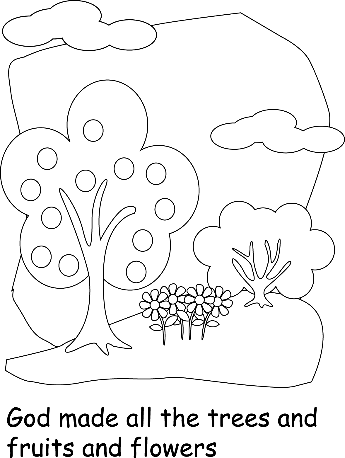 Free God Created The Earth Coloring Pages Download Free