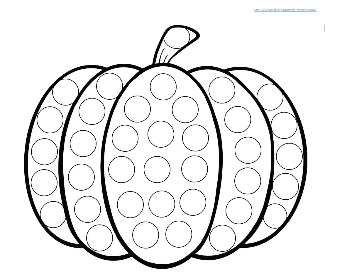 Halloween Dot Art Printables
