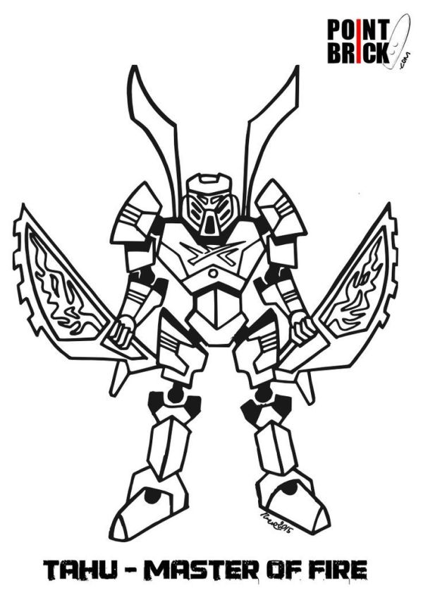 bionicle coloring pages # 10