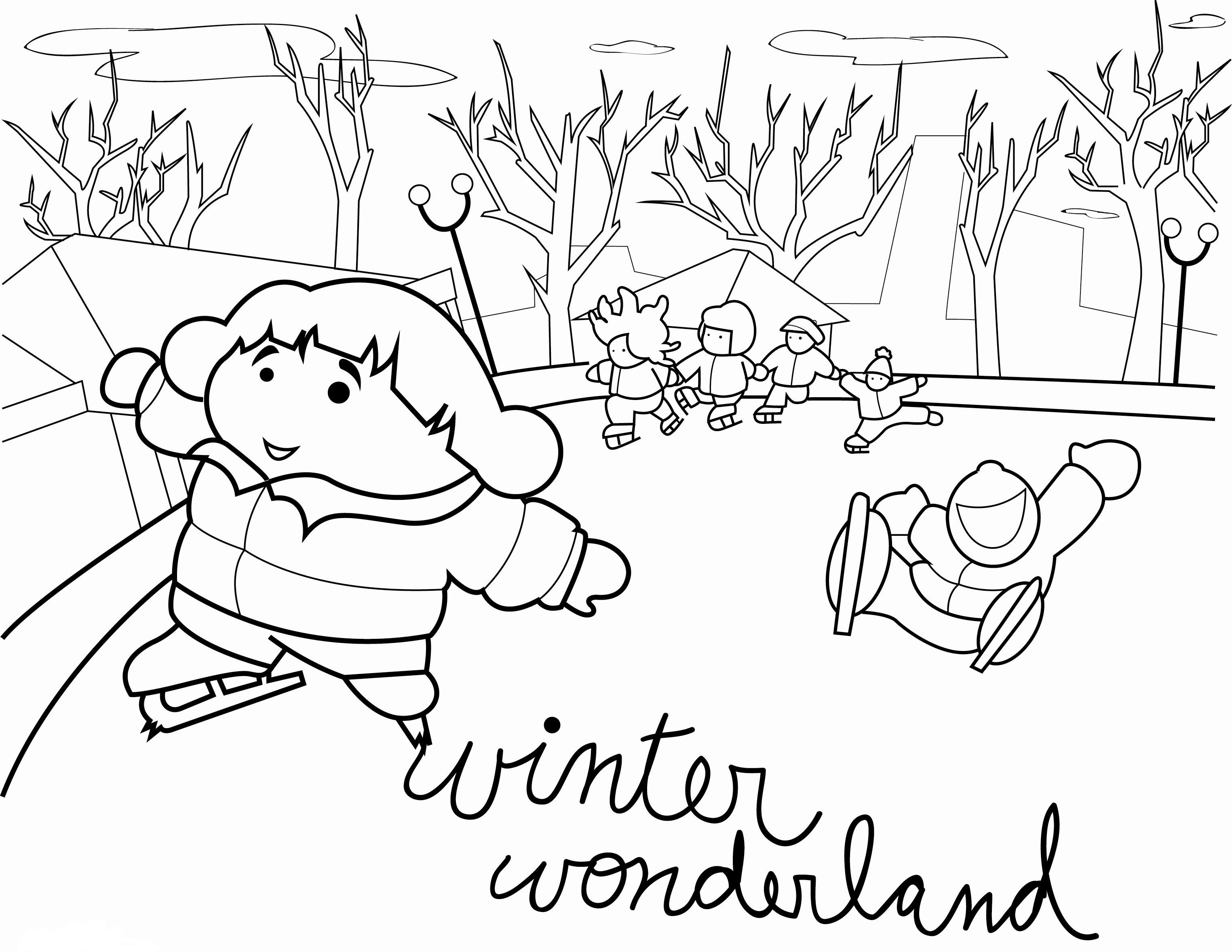 Free Winter Wonderland Coloring Pages