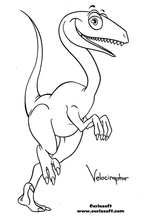 Free Velociraptor Coloring Page, Download Free Velociraptor