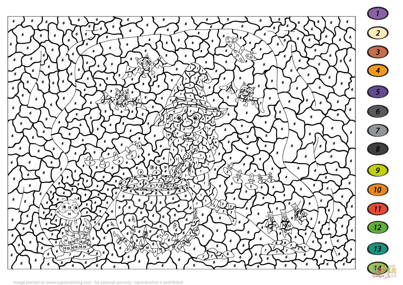 Free Color By Number Advanced Coloring Pages Download