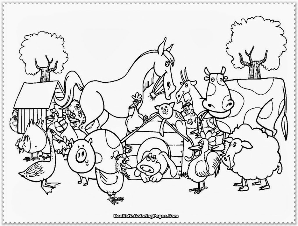 Free Old Macdonald Had A Farm Coloring Pages Download