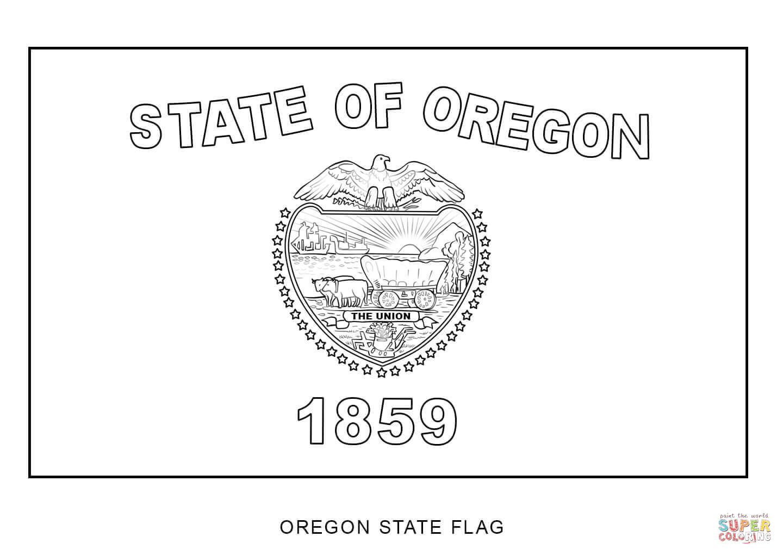 Printable Oregon State Flag