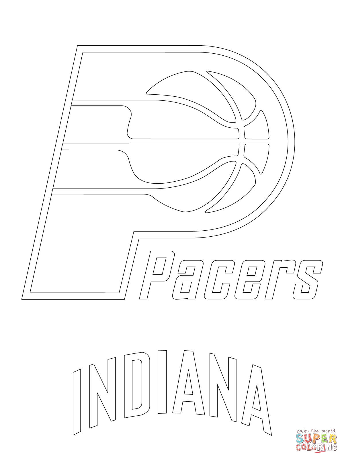 Houston Rockets Logo Coloring Page