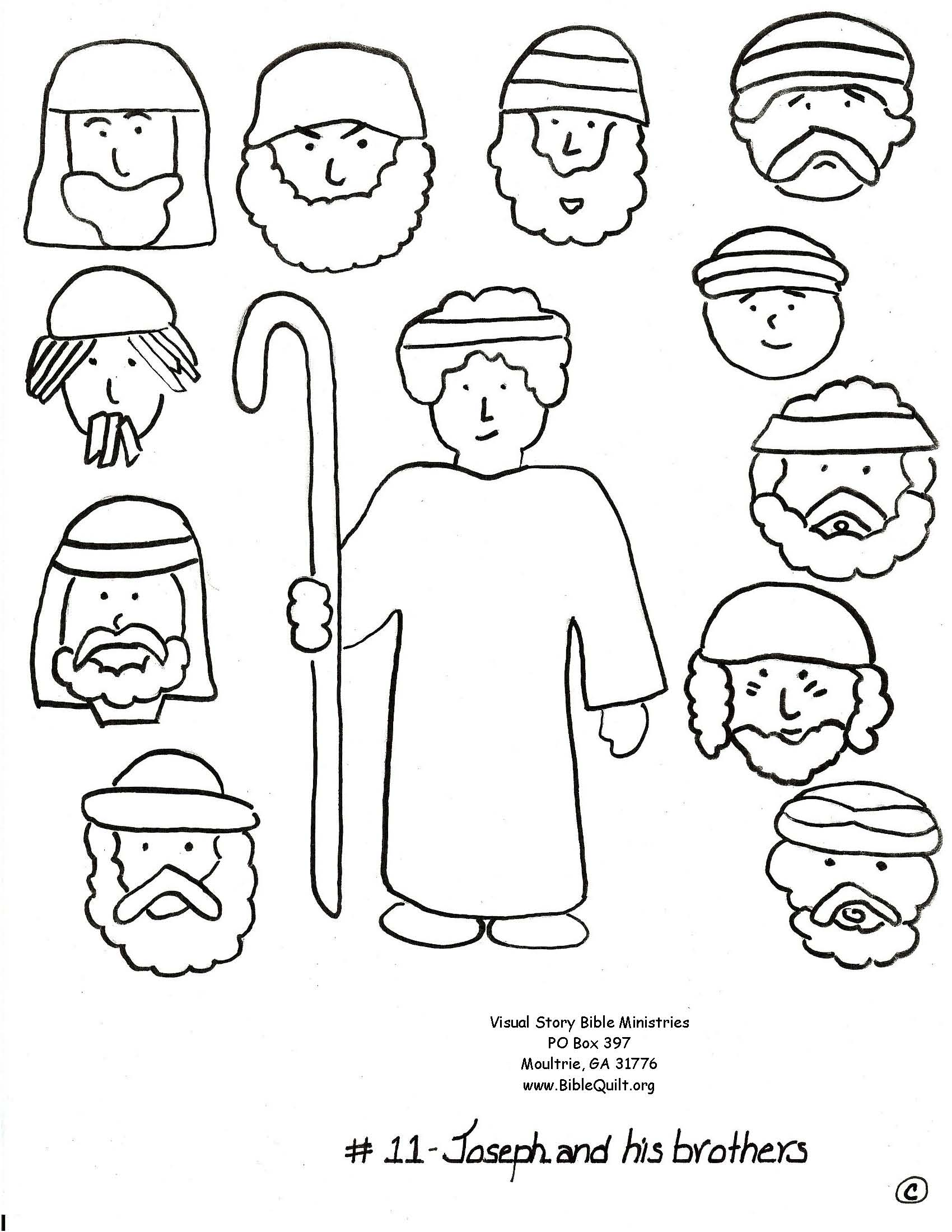 Free Coloring Pages Joseph Forgives His Brothers Download