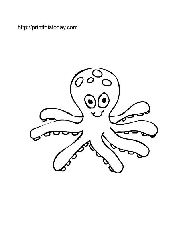 Free Coloring Pages Octopus Download Free Clip Art Free Clip Art On Clipart Library