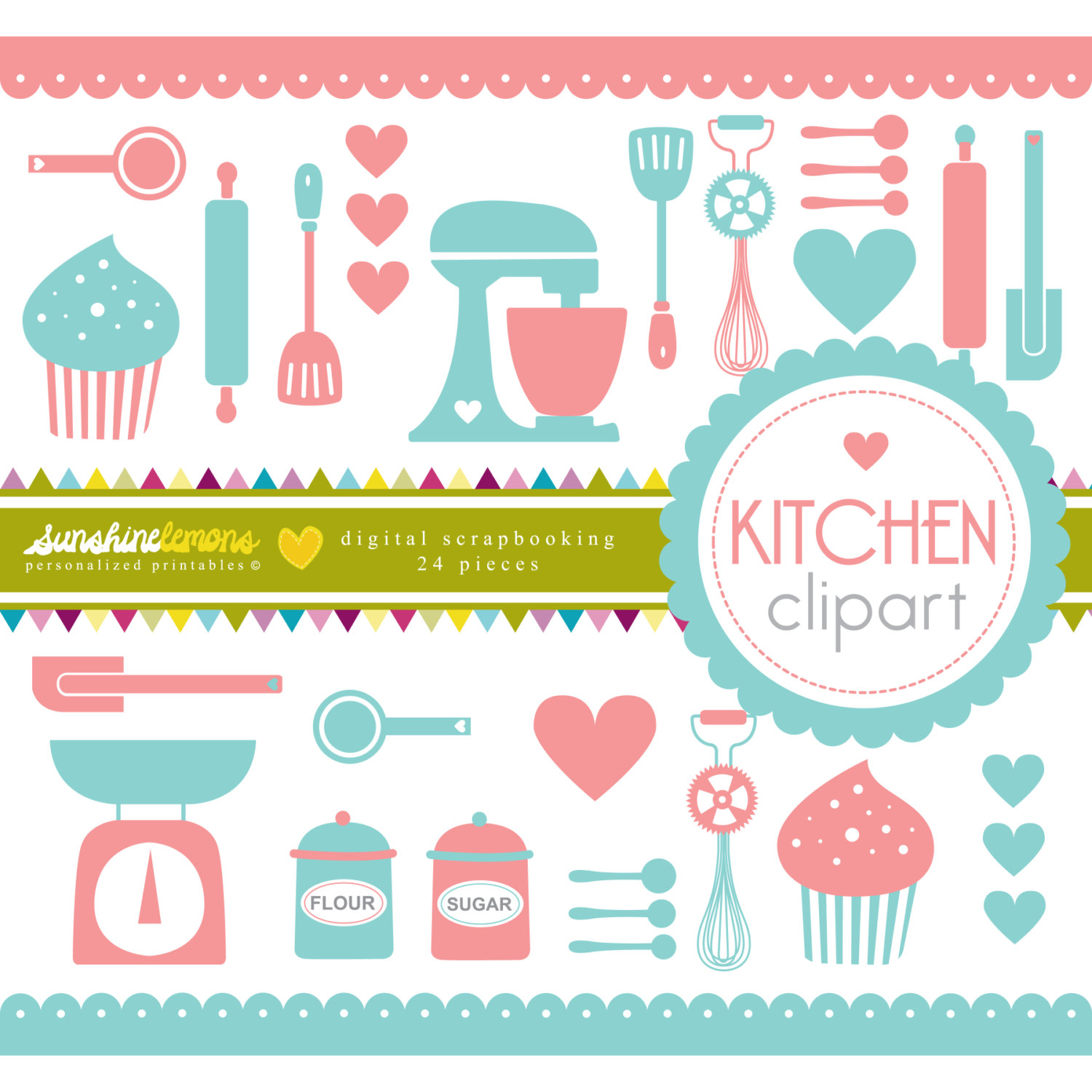 Cake Decorating Supplies Clip Art