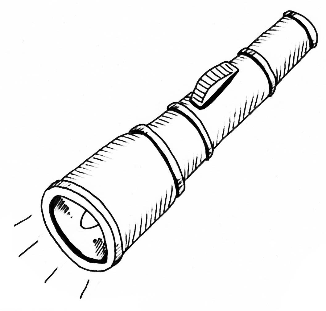 Flashlight Clip Art Drawing Cliparts