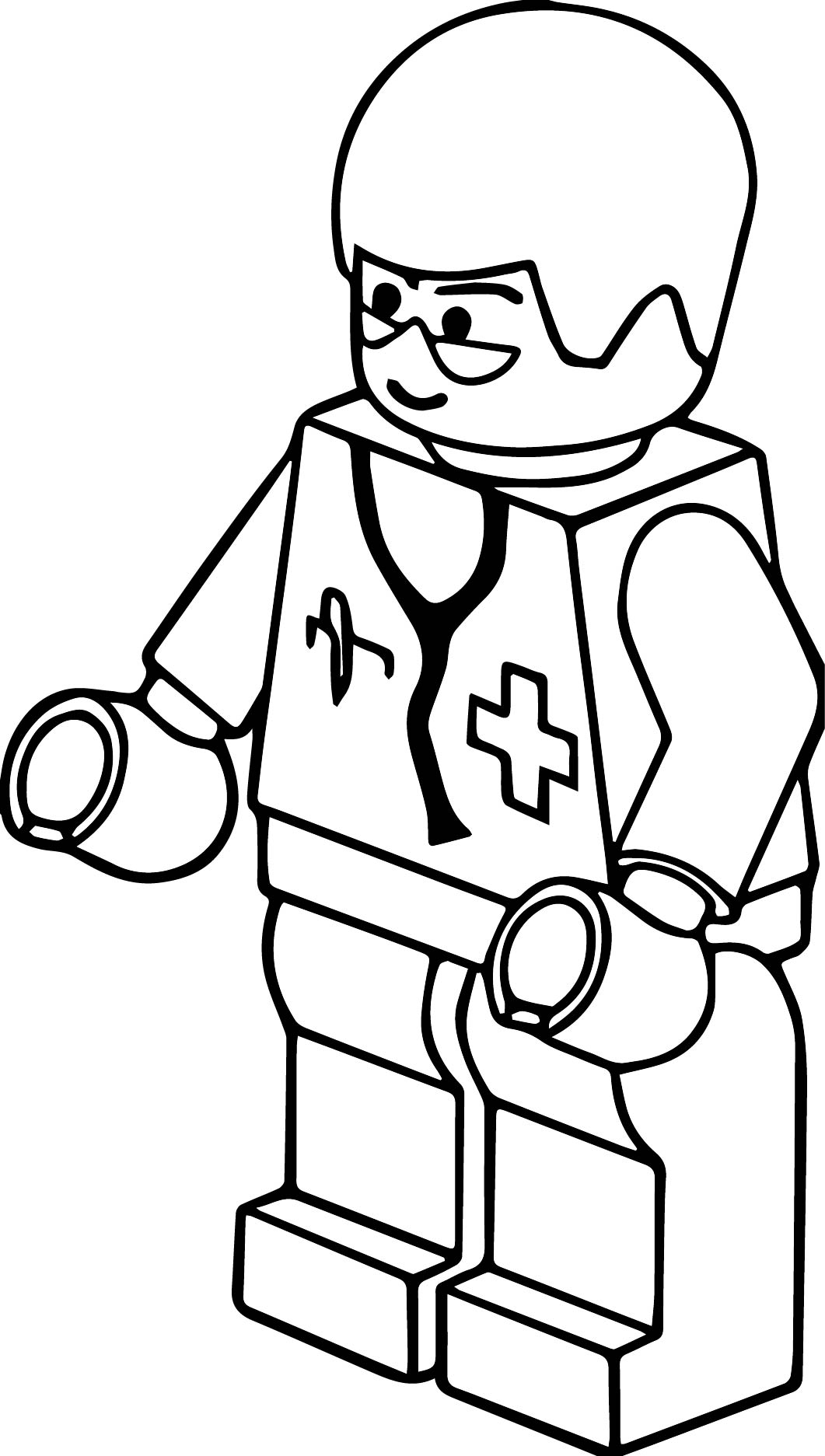 Lego Clip Art Pitr Lego Town Doctor Coloring Page