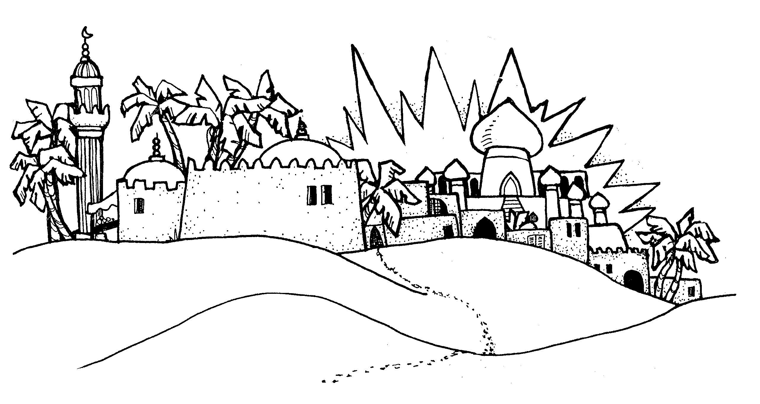 Arabian Town Lds Clipart And Handouts From Jennysmith Net