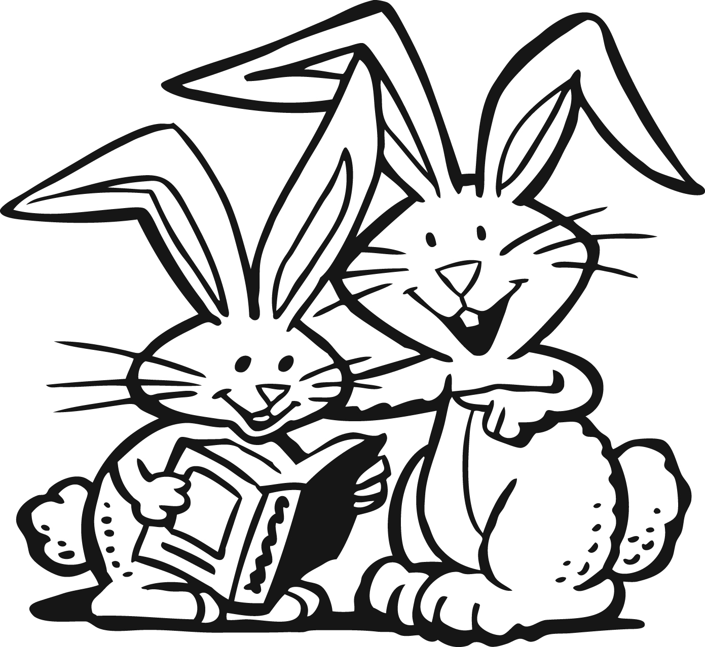 Free Reading Rabbit Cliparts Download Free Clip Art Free
