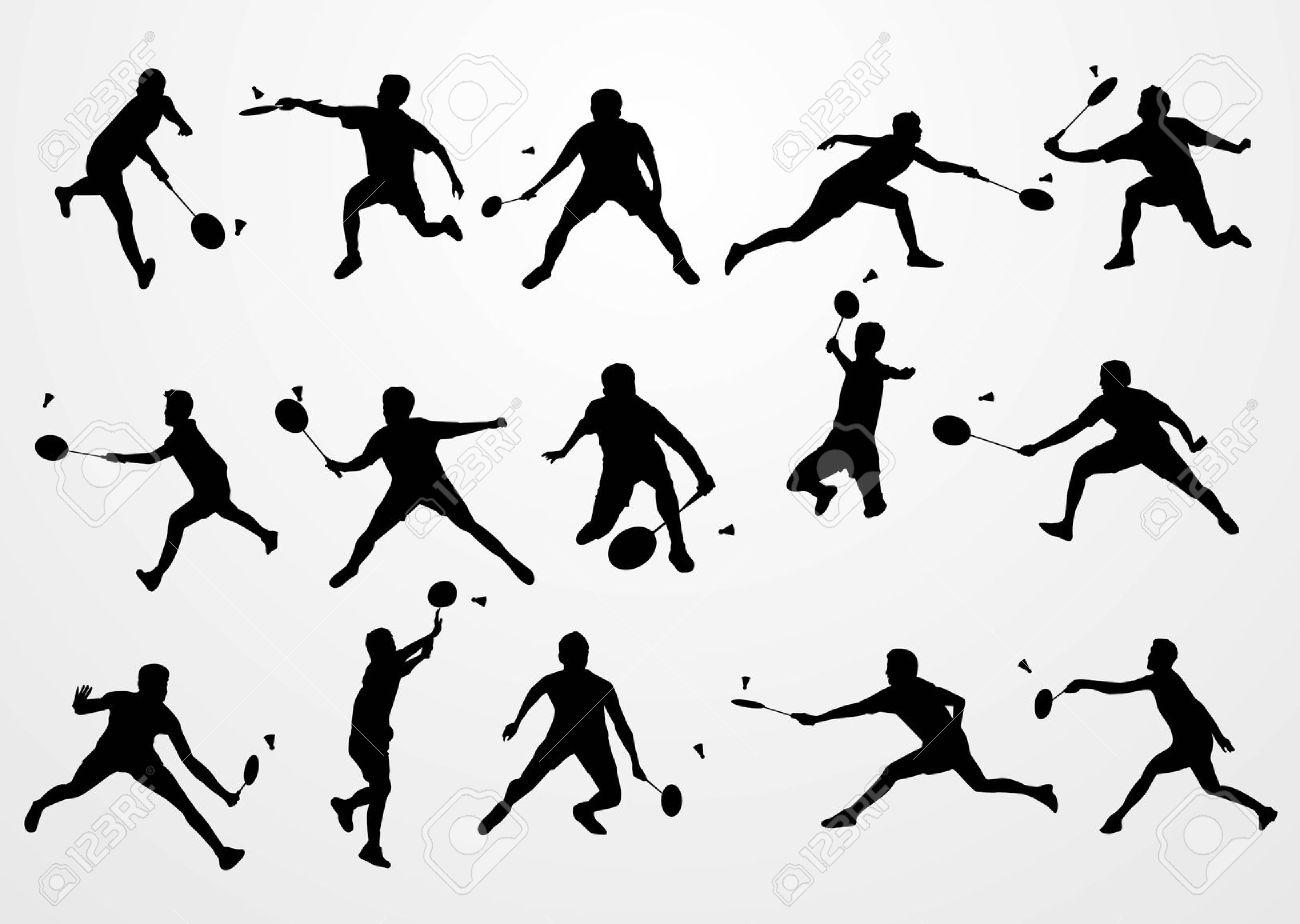 Free Badminton Silhouette Cliparts Download Free Clip Art