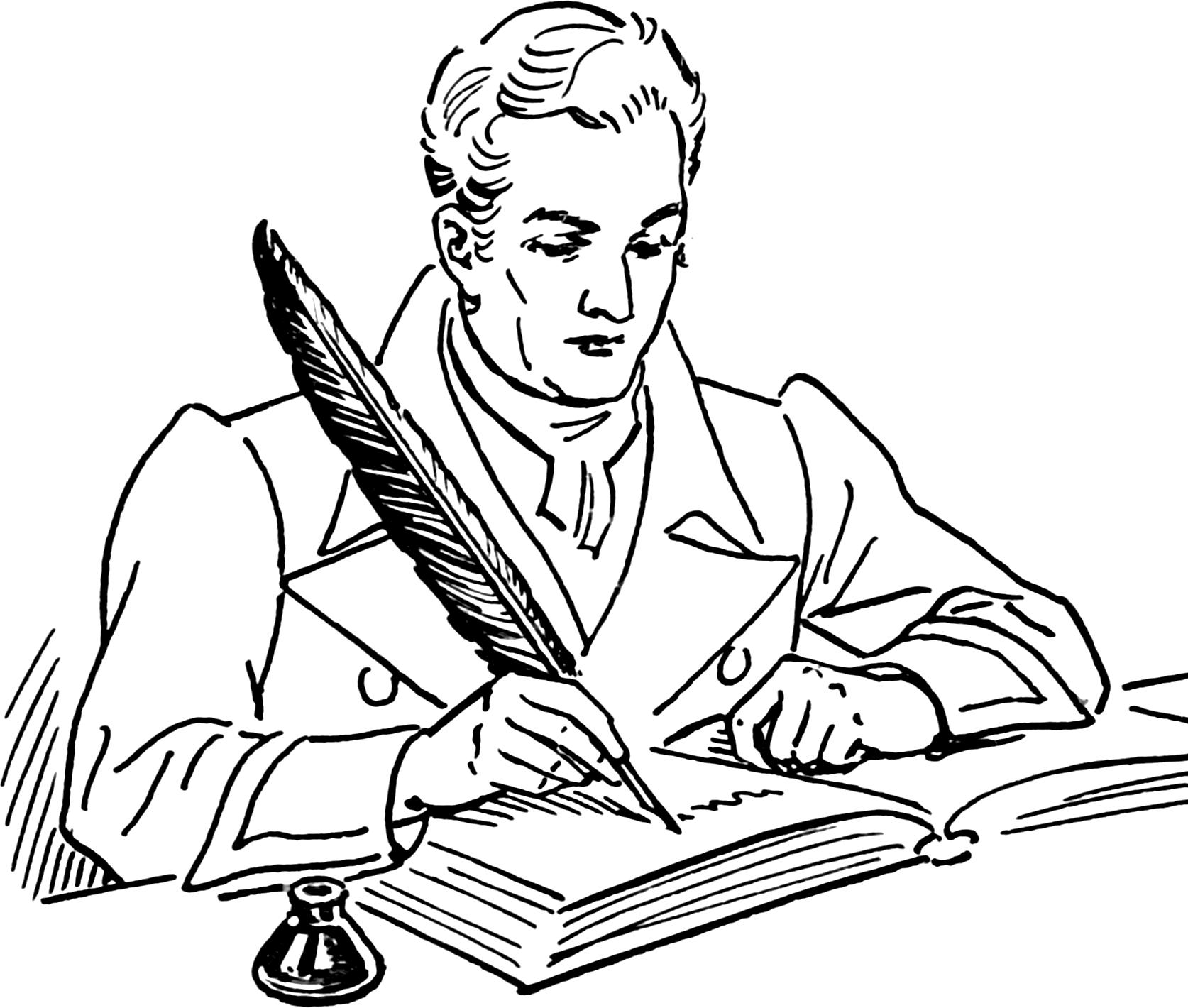 Writing Clip Art Write A Book Review Clipart 2