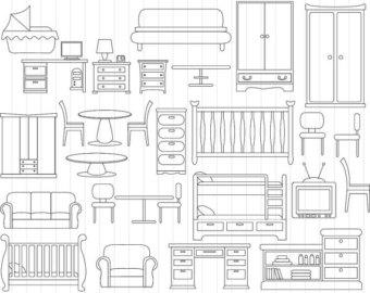Bedroom Furniture Cliparts Free Clip Art
