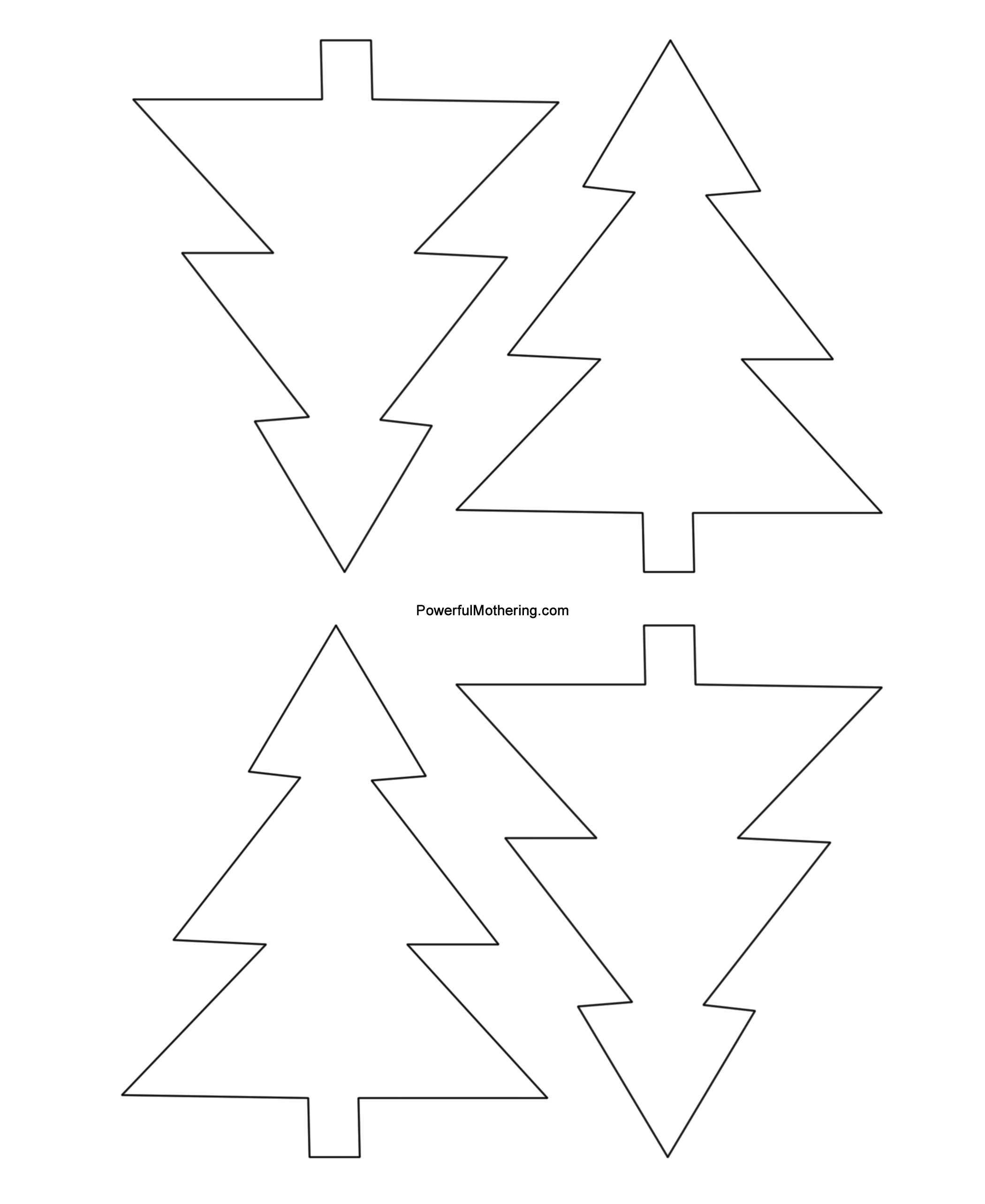 Free Stencil Of A Tree Outline Download Free Clip Art Free Clip Art On Clipart Library