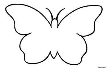 simple butterfly outline template free download
