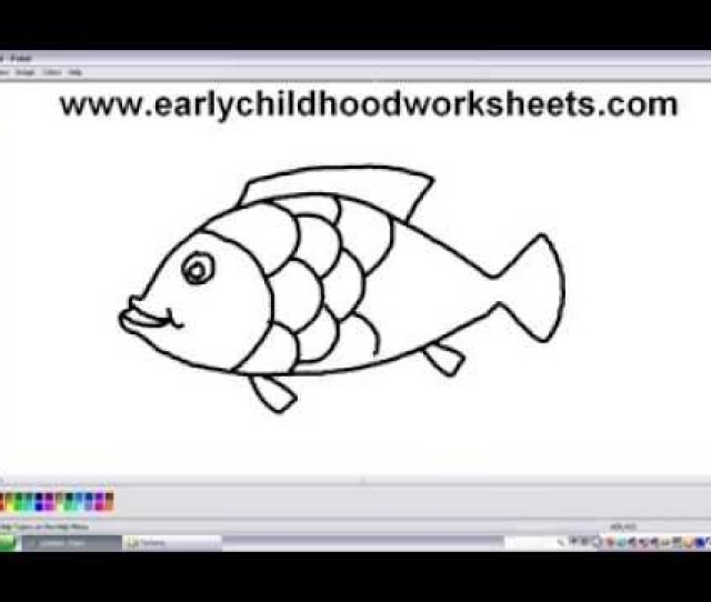 How To Draw Cartoons Fish Easy Step By Step For Kindergarten Kids