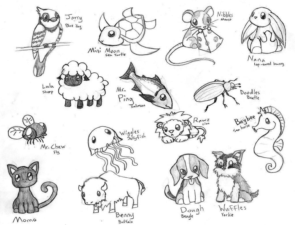 Free Cute Animal Drawings Download Free Clip Art Free