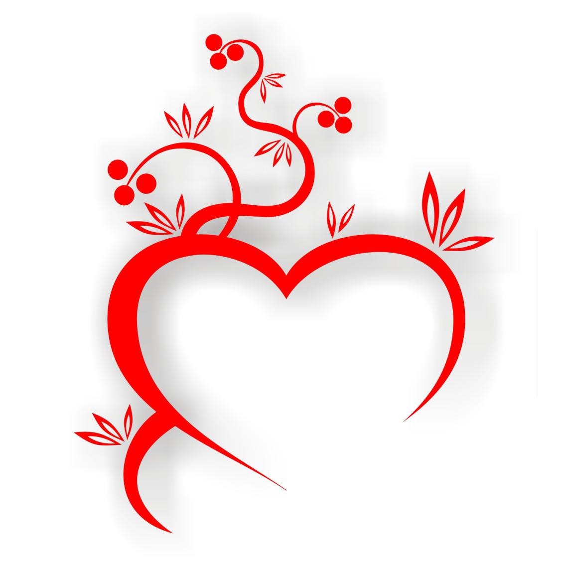 Download fancy swirl hearts - Clip Art Library