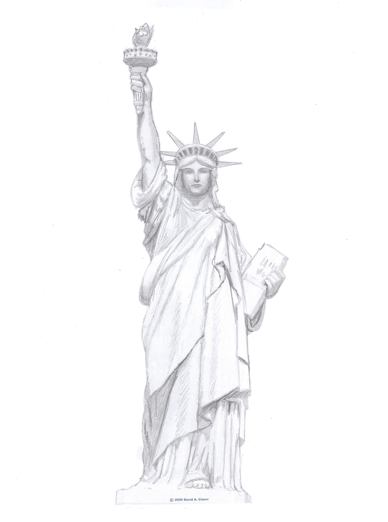 Free Statue Of Liberty Drawing Download Free Clip Art