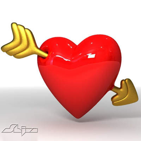 Free Heart With Arrow Download Free Clip Art Free Clip