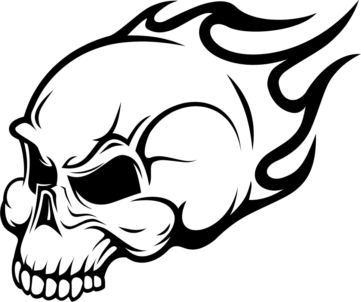 Free Drawings Of Skulls On Fire Download Free Clip Art