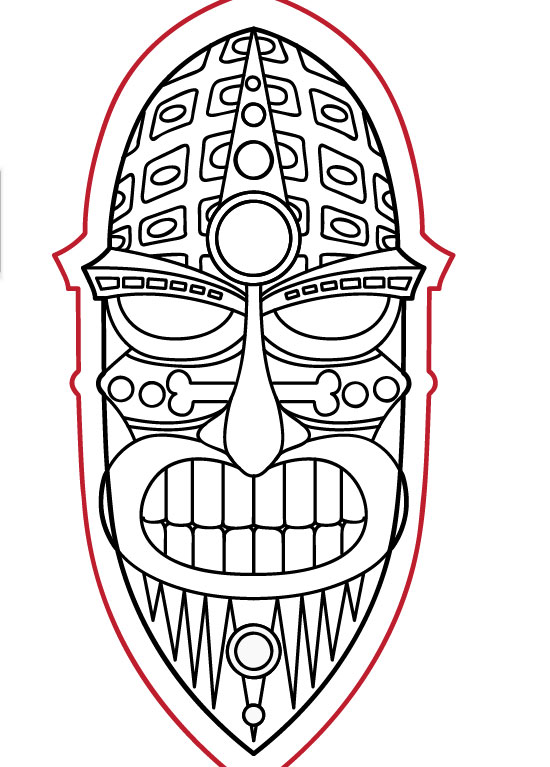 free tiki mask template download free clip art free clip