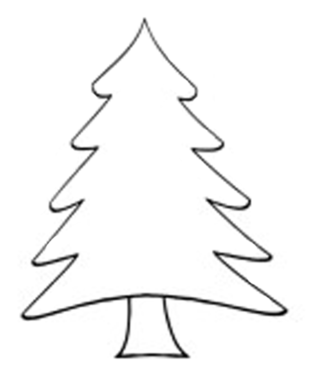 Christmas Tree Outline 620755 Kids Coloring Pages